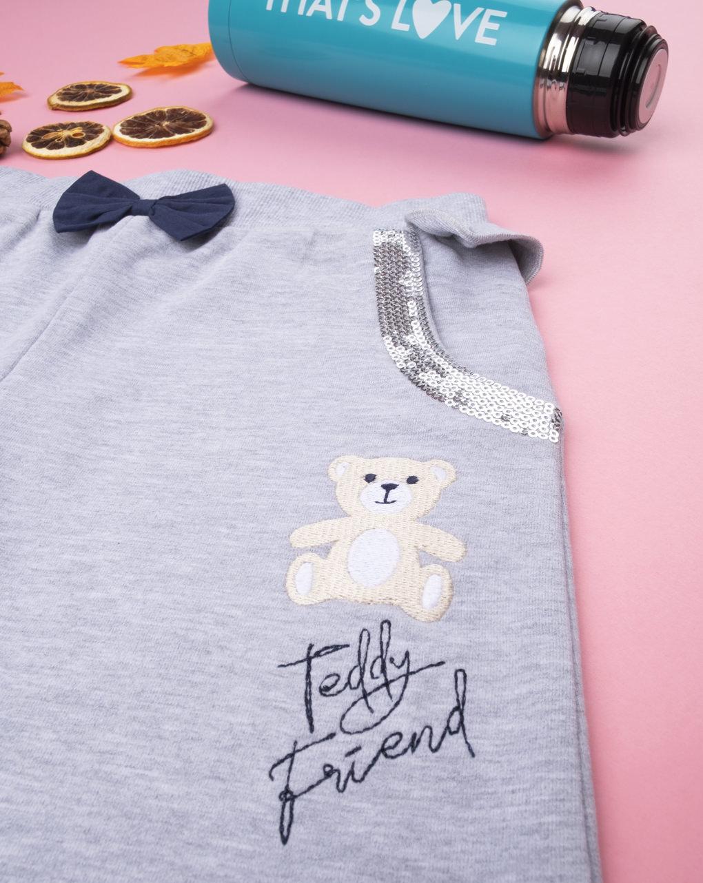 """Garota felpato pantalona """"amiga teddy"""" - Prénatal"""
