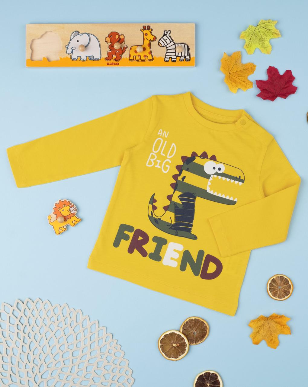 """Camiseta menino """"amigo"""" - Prénatal"""