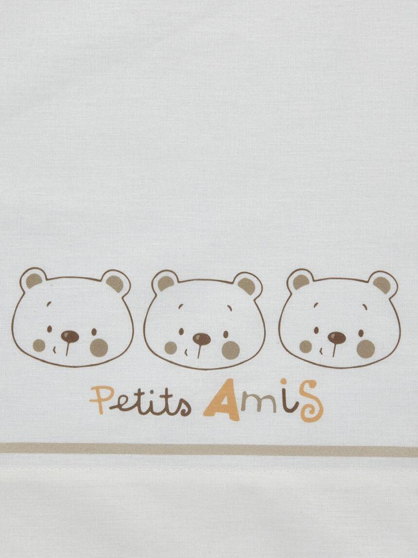 Conjunto de berço de 3 peças com estampa de ursinho de pelúcia - Prénatal