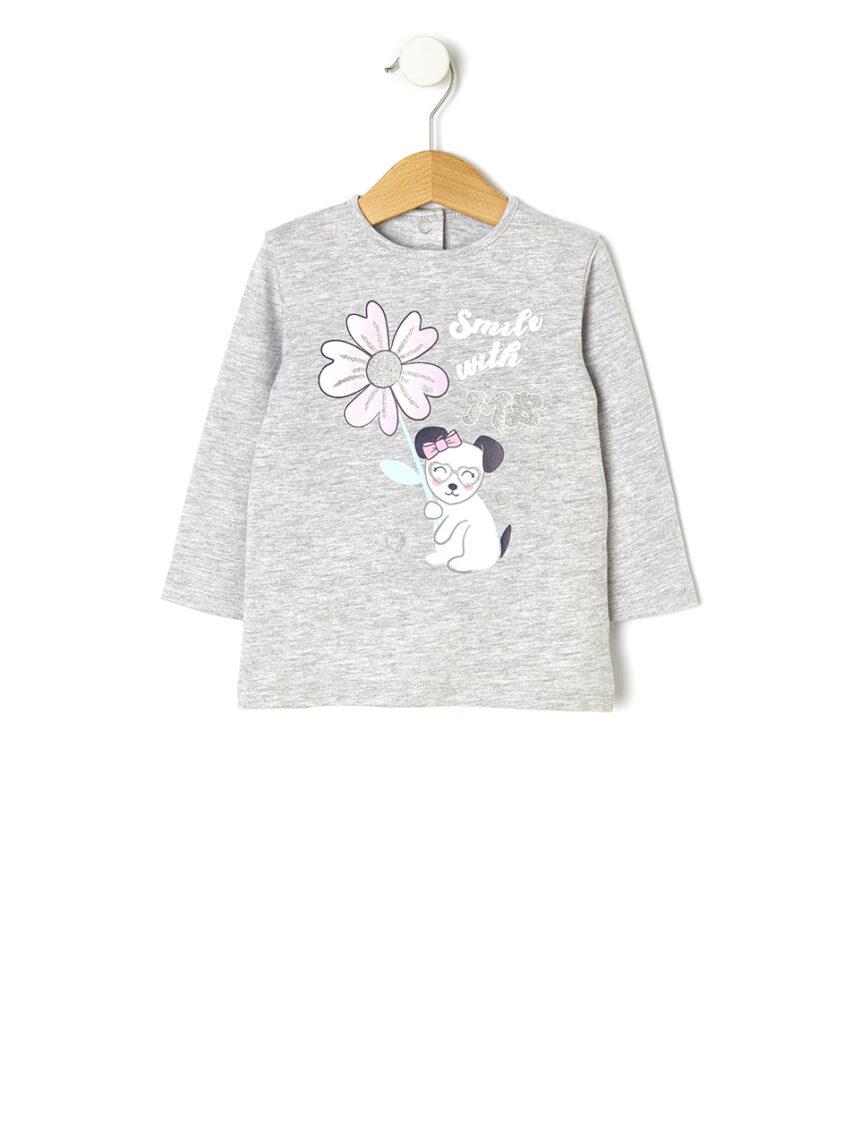 Camiseta com estampa glitter - Prénatal