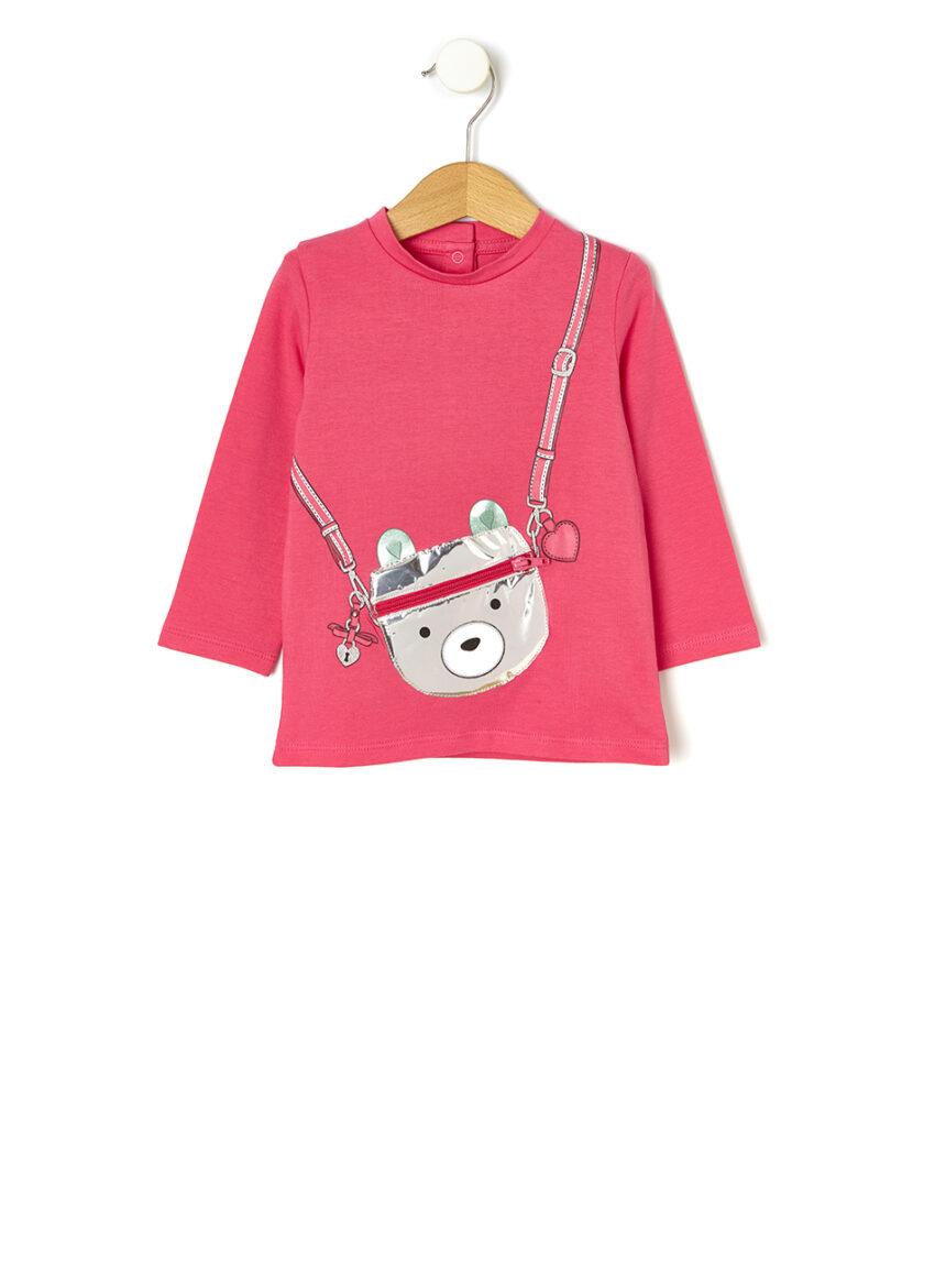 Camiseta jersey com estampa e aplicação - Prénatal