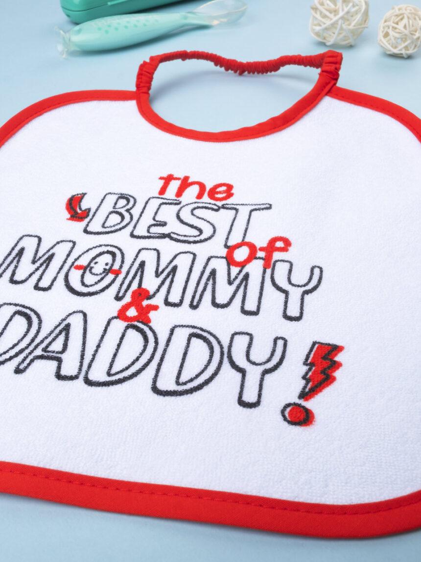 "Menino bavaglino ""the best mommy & daddy"" - Prénatal"