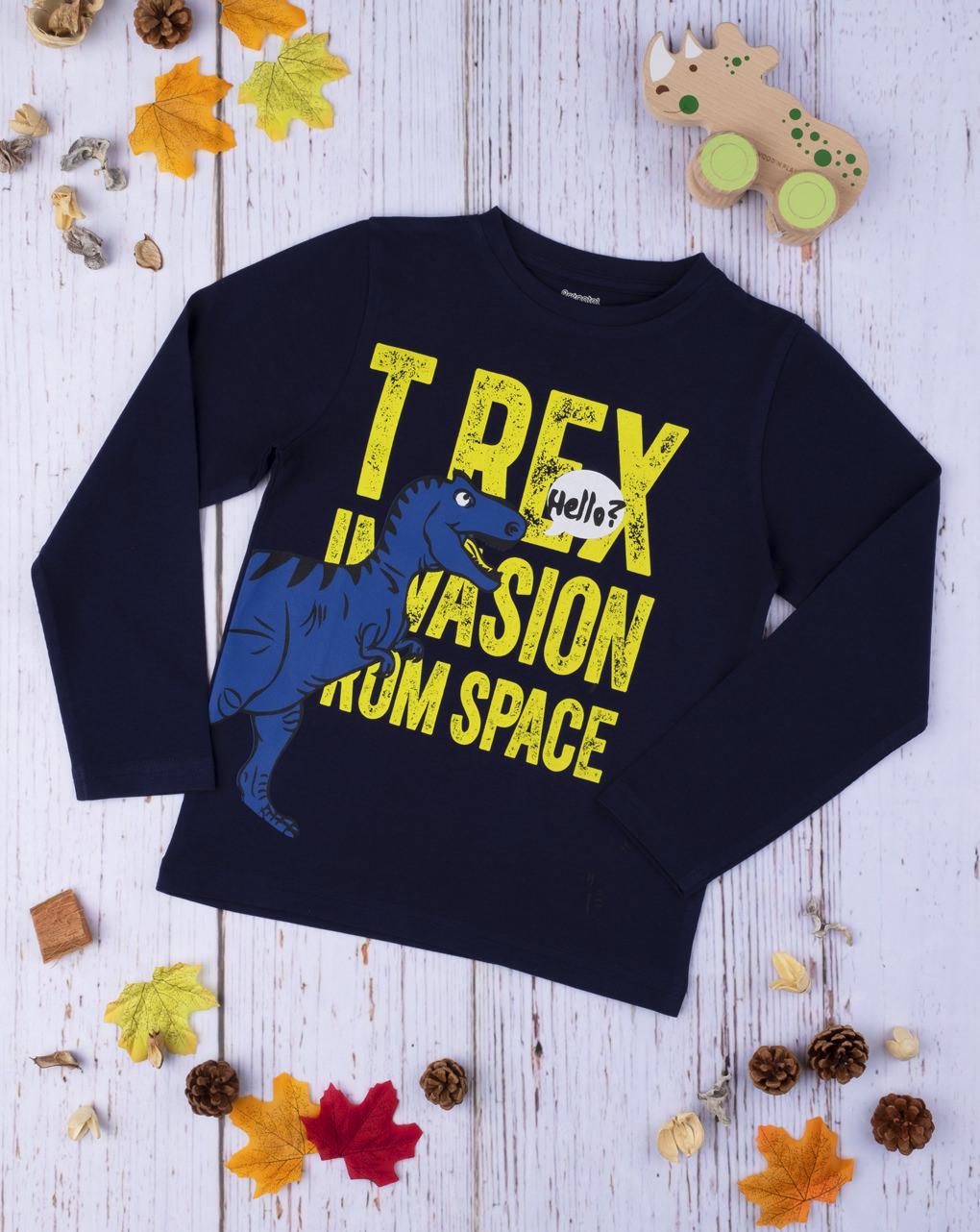 "T-shirt menino ""t-rex"" - Prénatal"