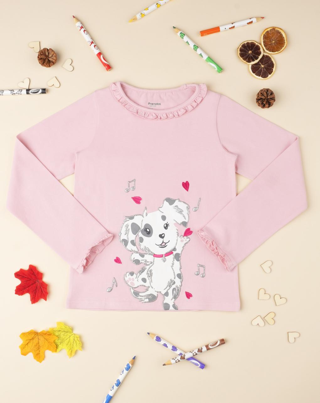 "T-shirt menina ""cagnolino"" - Prénatal"