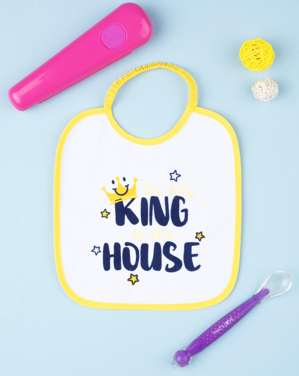 """Menino bavaglino """"o único rei da casa"""" - Prénatal"""