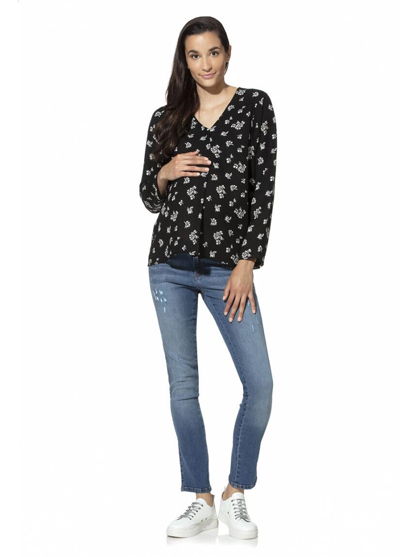 Calça jeans para maternidade com tachas - Prénatal