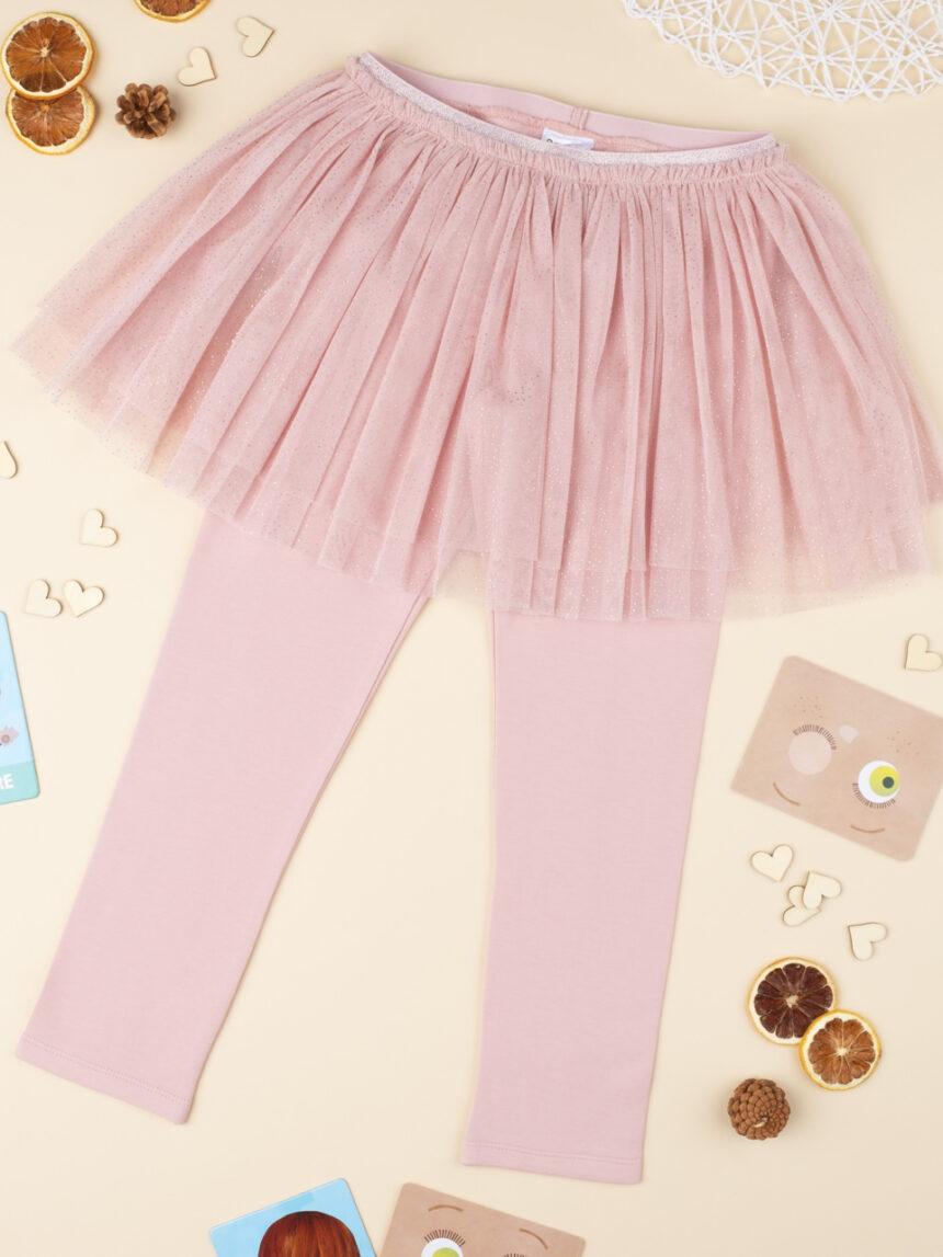 Leggings com vai garoto rosa - Prénatal