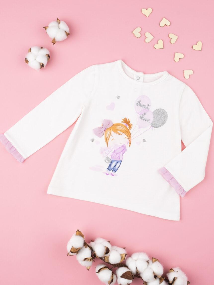 """T-shirt menina """"sweet love"""" - Prénatal"""