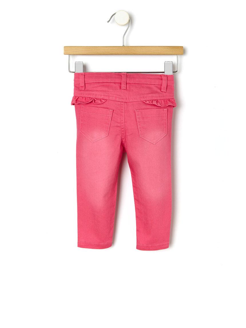 Calça jeans com babados - Prénatal