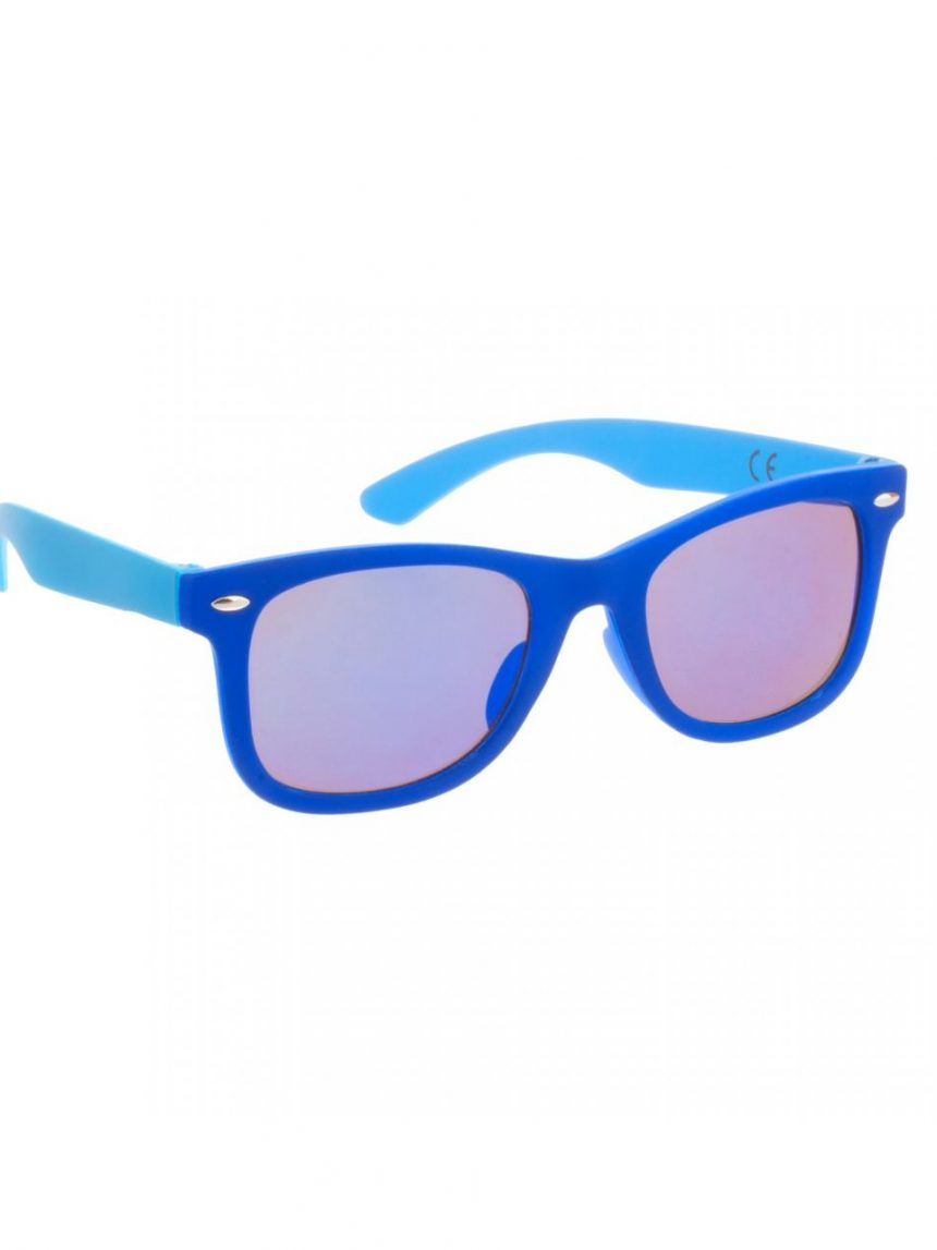 óculos de sol azul azul com lentes de espelho - Monkey Monkey