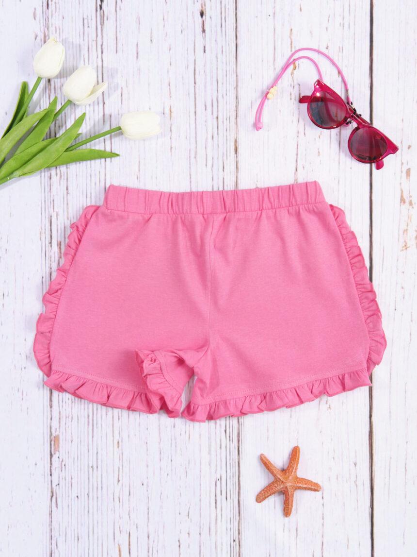 Shorts rosa maciço feminino - Prénatal