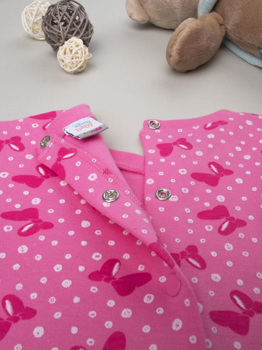 """Pijama de menina """"minnie"""" de bolinhas - Prénatal"""