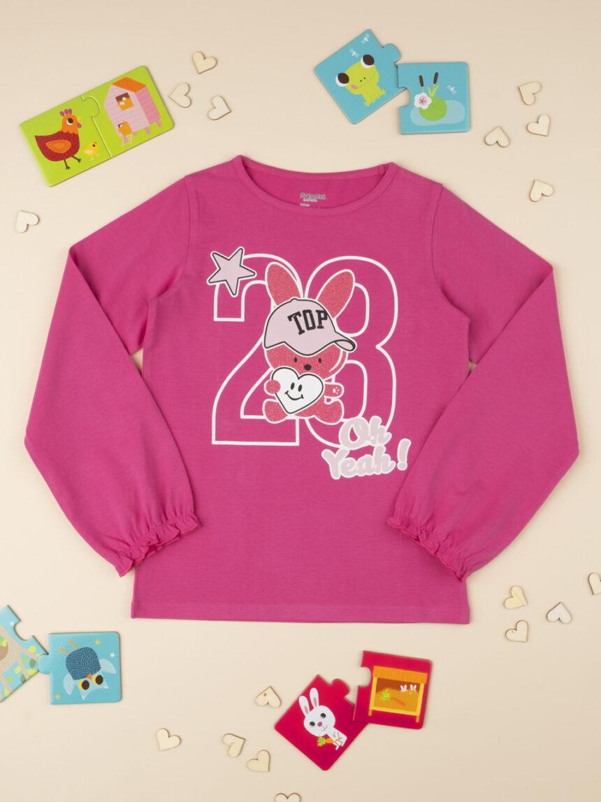 "Camiseta menina rosa ""oh yeah"" - Prénatal"