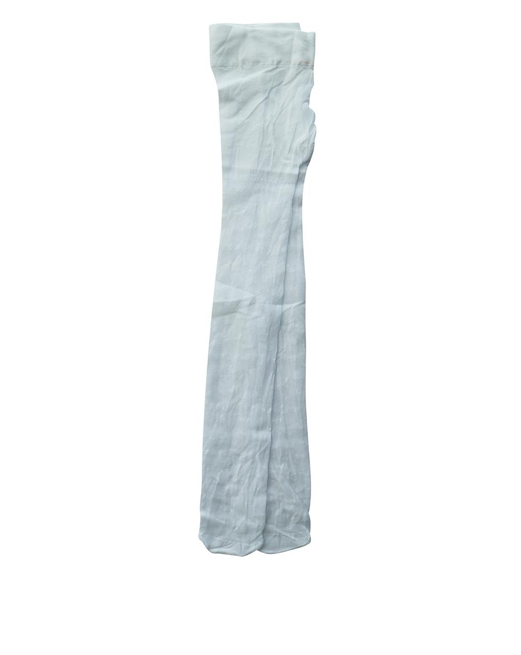Collant de tule branco com bordado - Prénatal