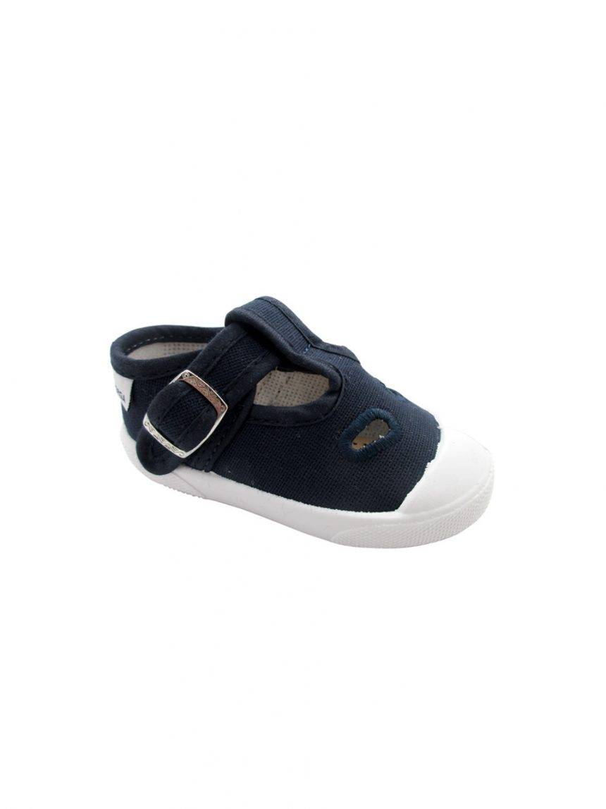 Sapato azul com fivela - Superga