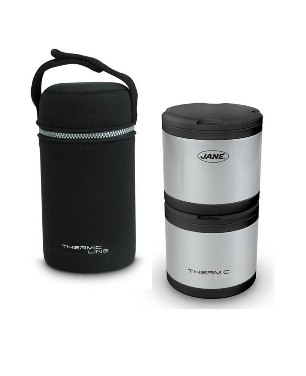 Jané - pack 2 termos para sólidos inox 500cc com tampa neoprene - Jané