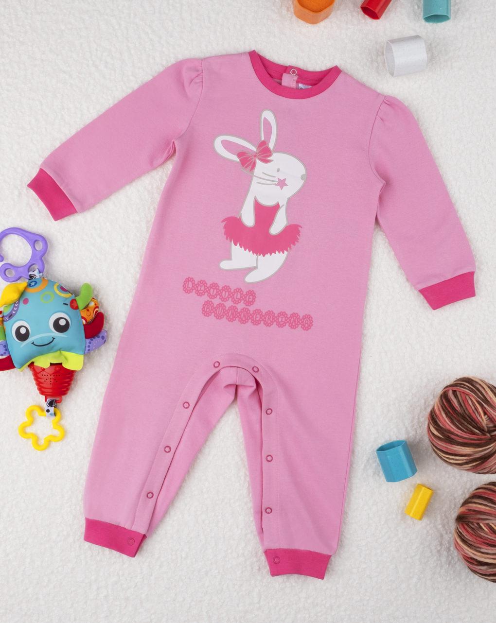 """Pijama de menina """"bailarina de coelho"""" - Prénatal"""