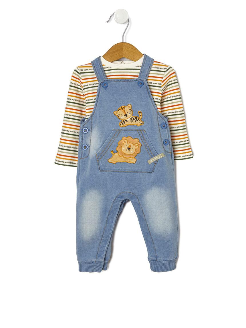 Jeans remendados com patchwork - Prénatal