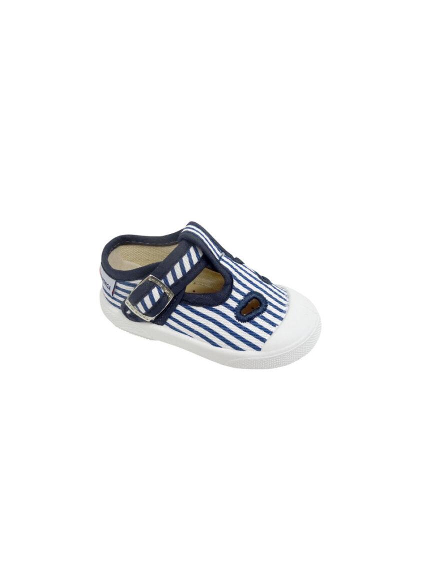 Sapato listrado com fivela - Superga
