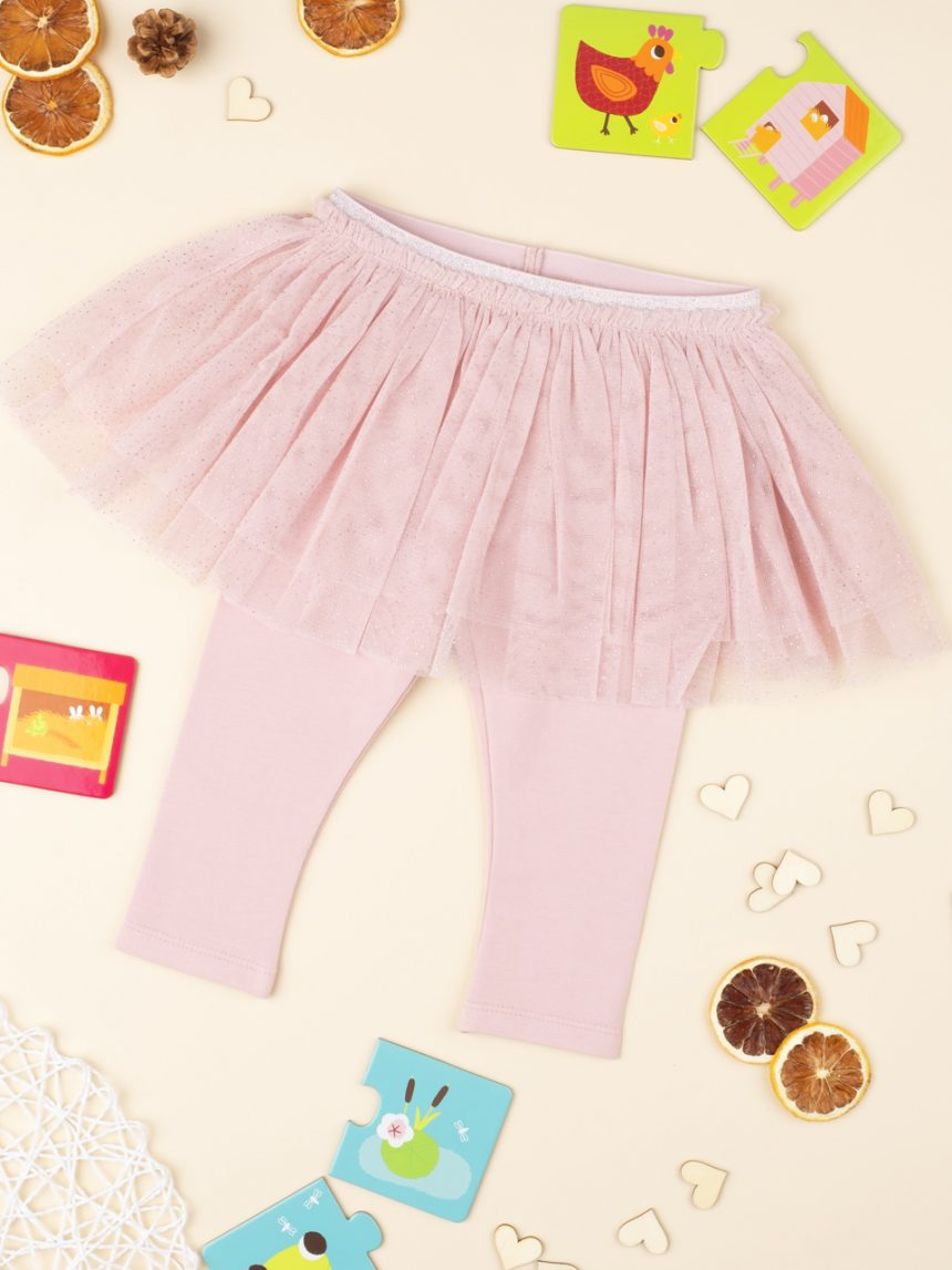 Leggings con vai rosa bebê - Prénatal