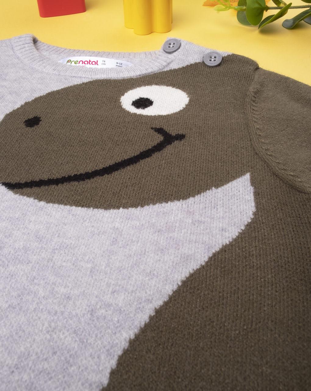 "Suéter tricot ""dinosaur"" para menino - Prénatal"