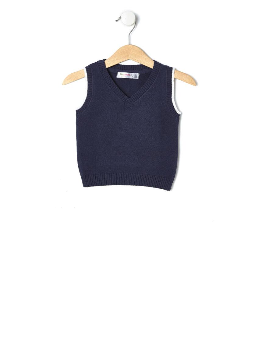 Colete de algodão azul escuro - Prénatal