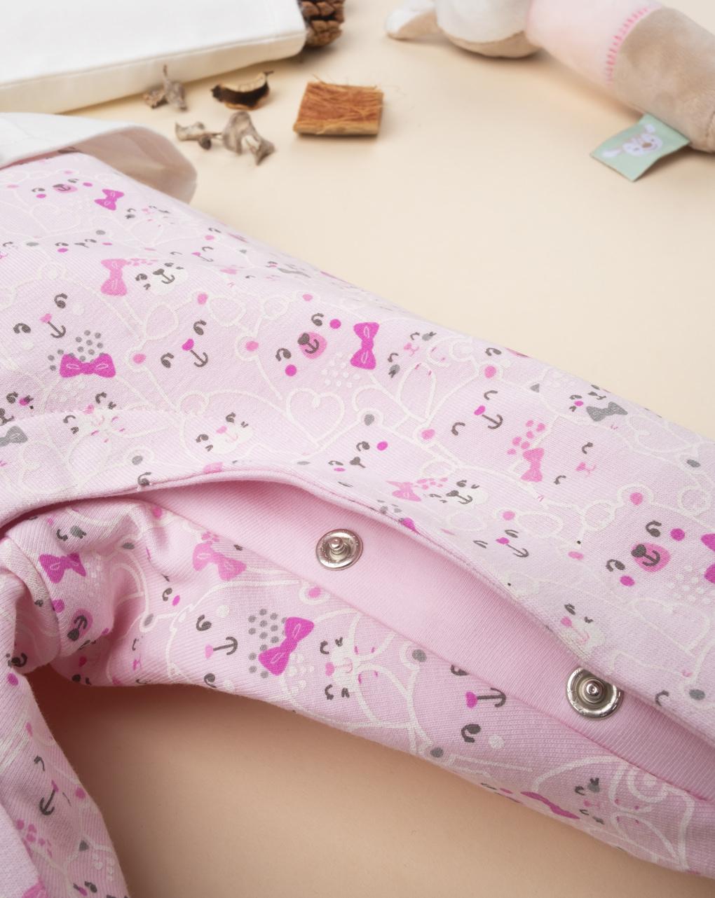 "Tutina girl bicolor ""white & pink"" - Prénatal"