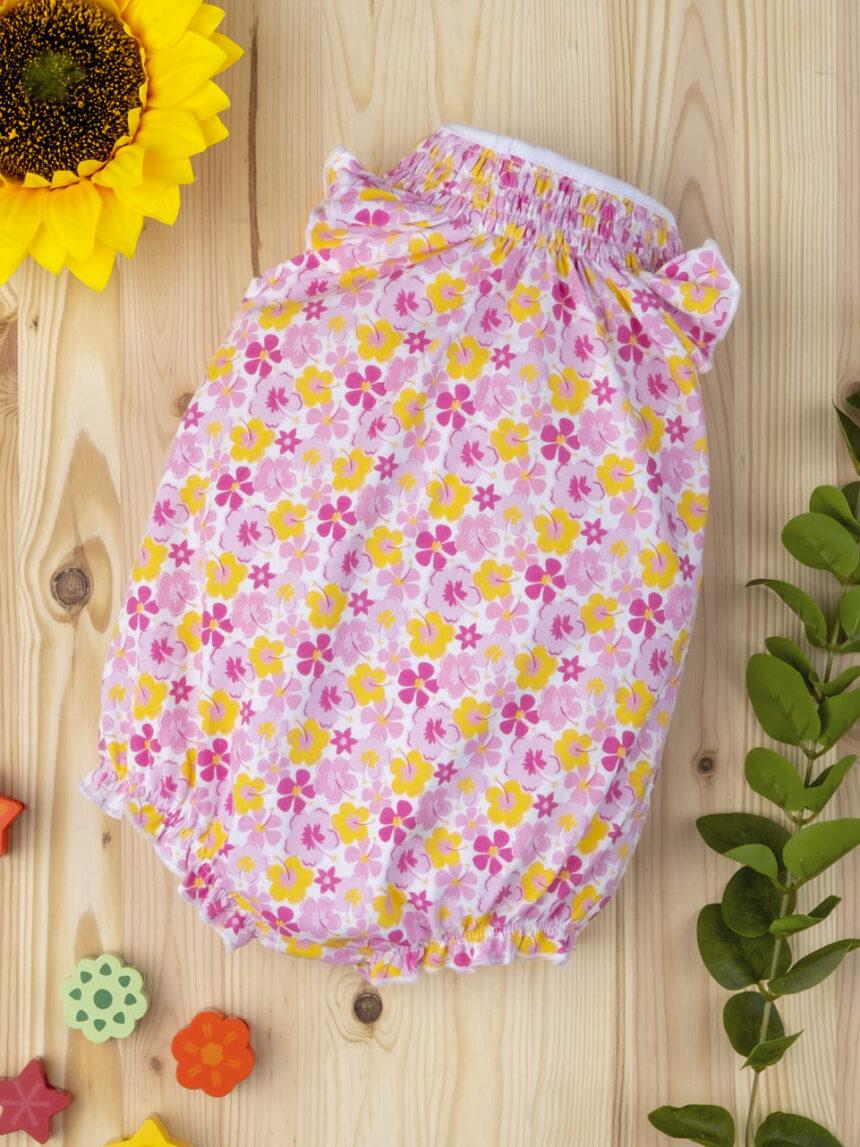 """Macacão de bebê """"flor"""" - Prénatal"""