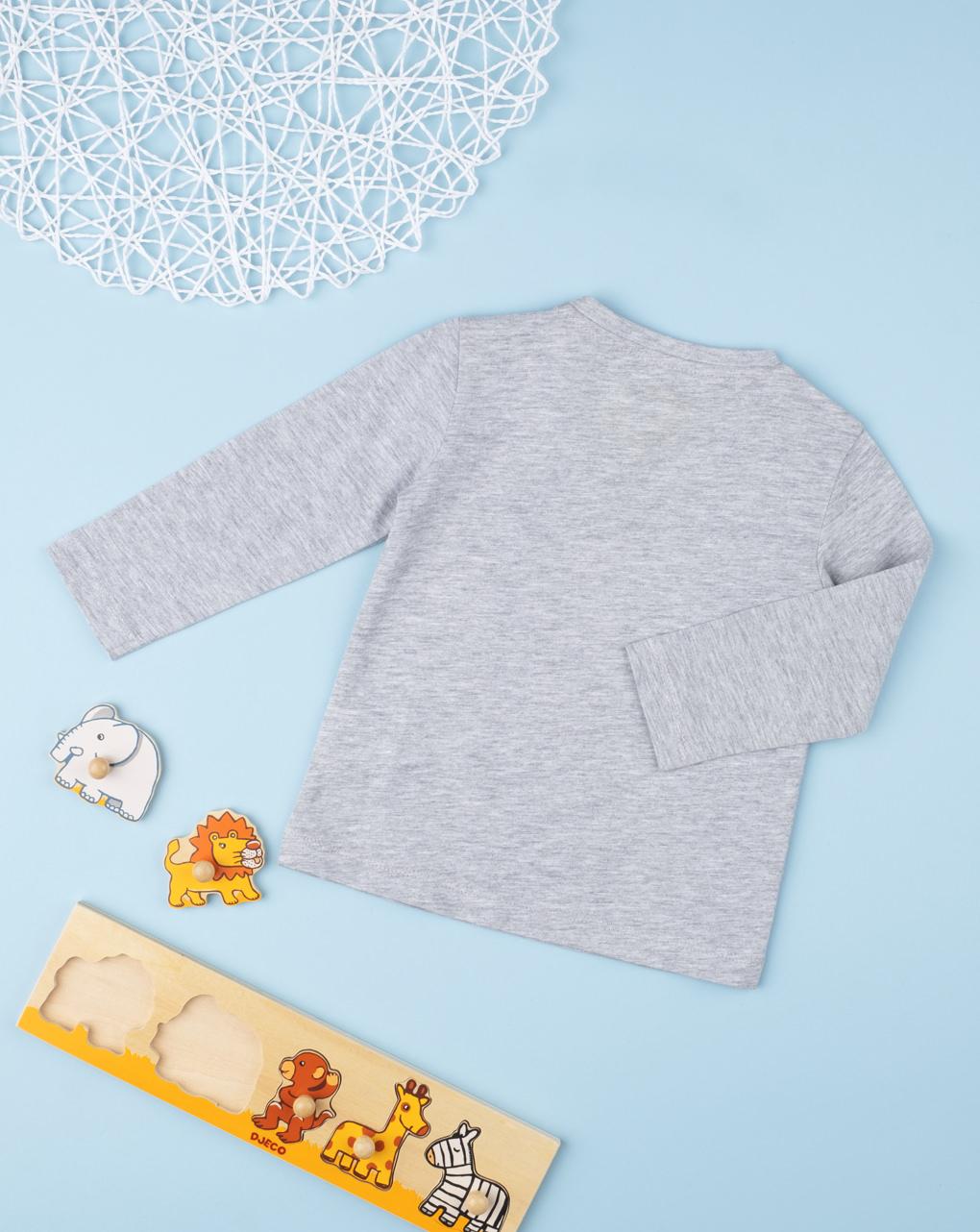 Camiseta menino cinza - Prénatal