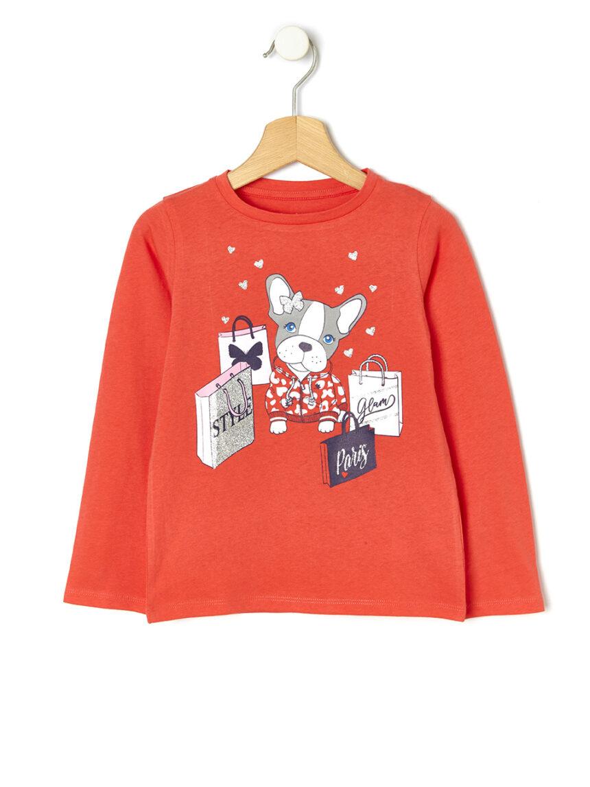 Camiseta com estampa de cachorro - Prénatal