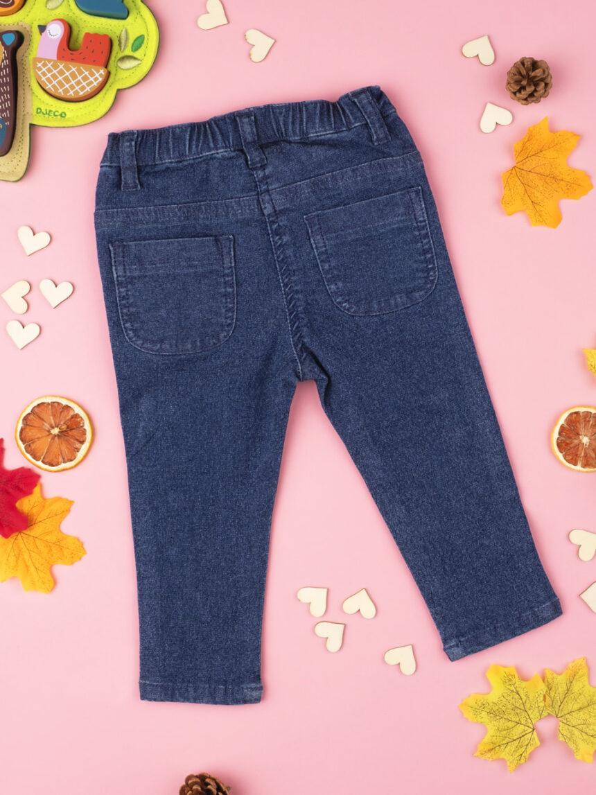 "Calça jeans azul ""hearts"" para menina - Prénatal"