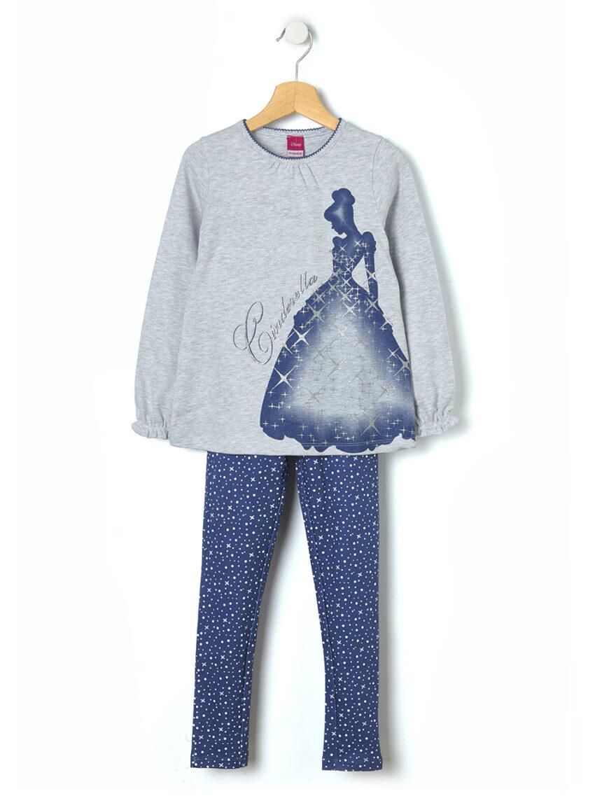 Pijama de duas peças com estampa cinderela - Prénatal