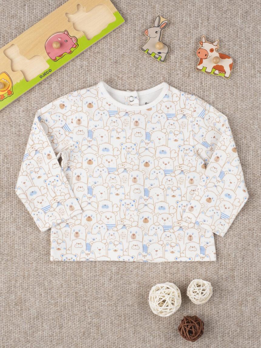 """T-shirt engraçado menino """"animal white"""" - Prénatal"""
