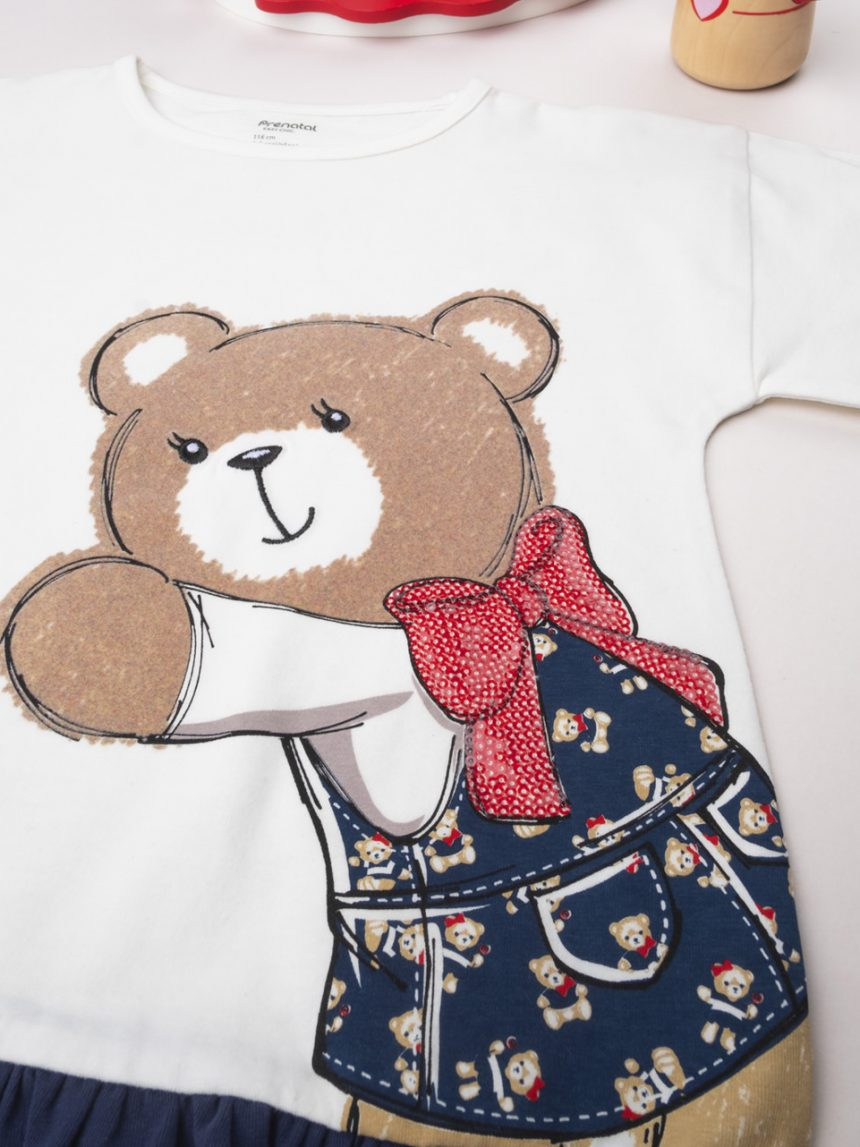 "Camisa de menina ""ruffle and bear"" - Prénatal"