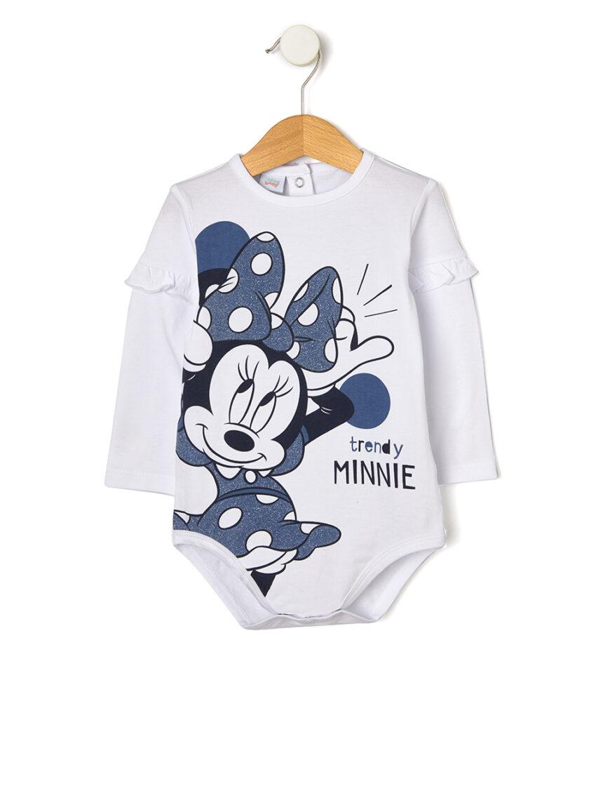 Minnie mouse estampado no corpo com detalhes brilhantes - Prénatal