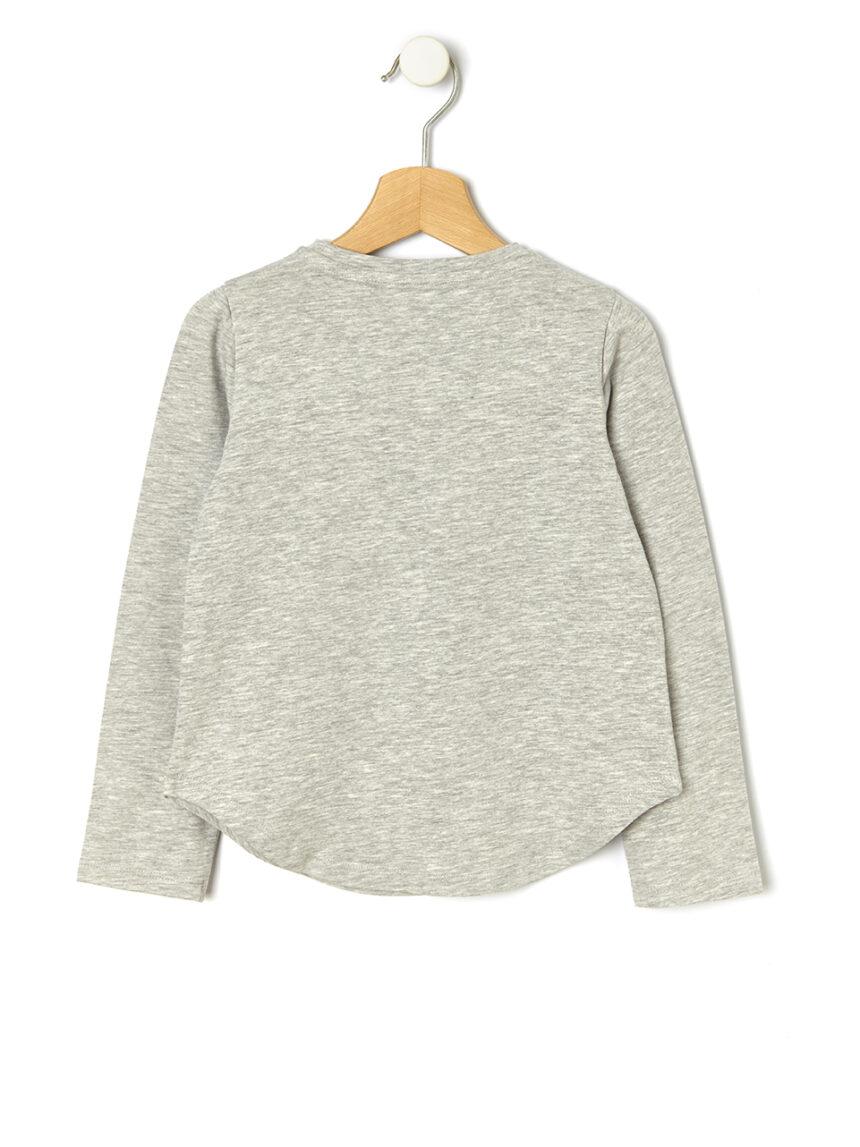 Camiseta de manga comprida com estampa e aplicação - Prénatal