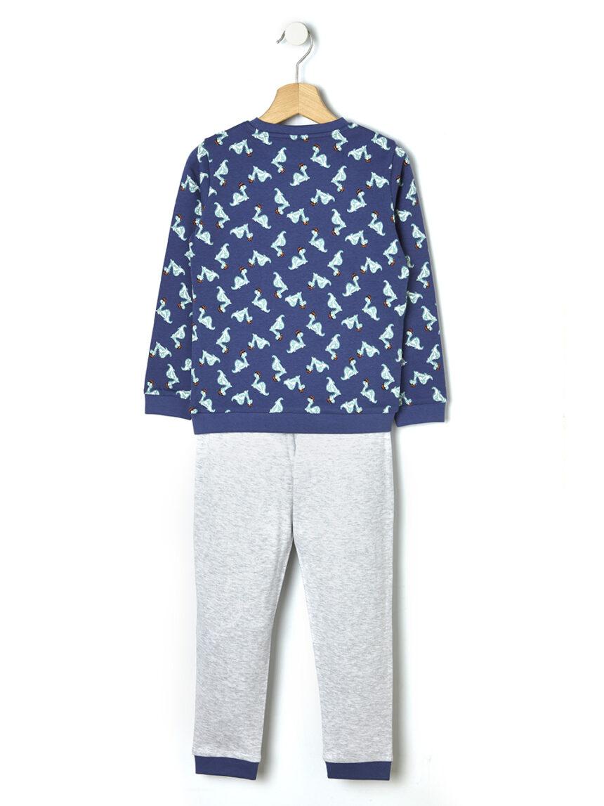 Pijama de duas peças com estampa de dinossauro - Prénatal
