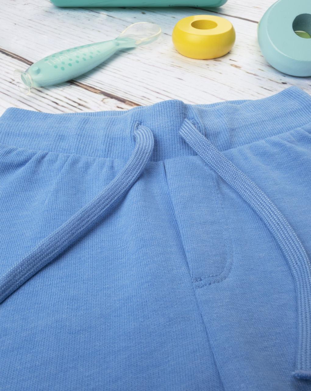 """Calça de moletom """"azul claro"""" básico - Prénatal"""