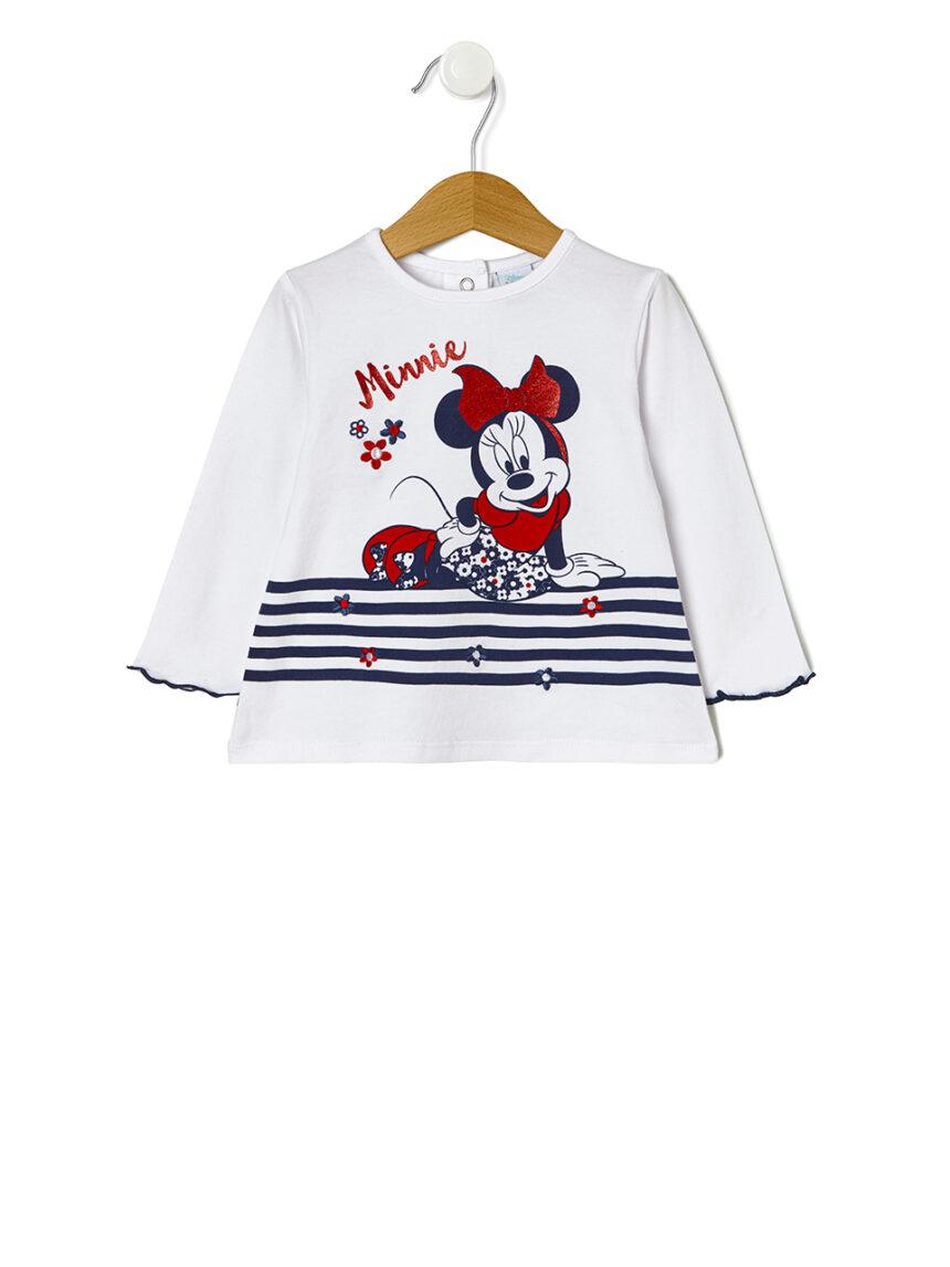 Camiseta de manga comprida com estampa minnie mouse - Prénatal