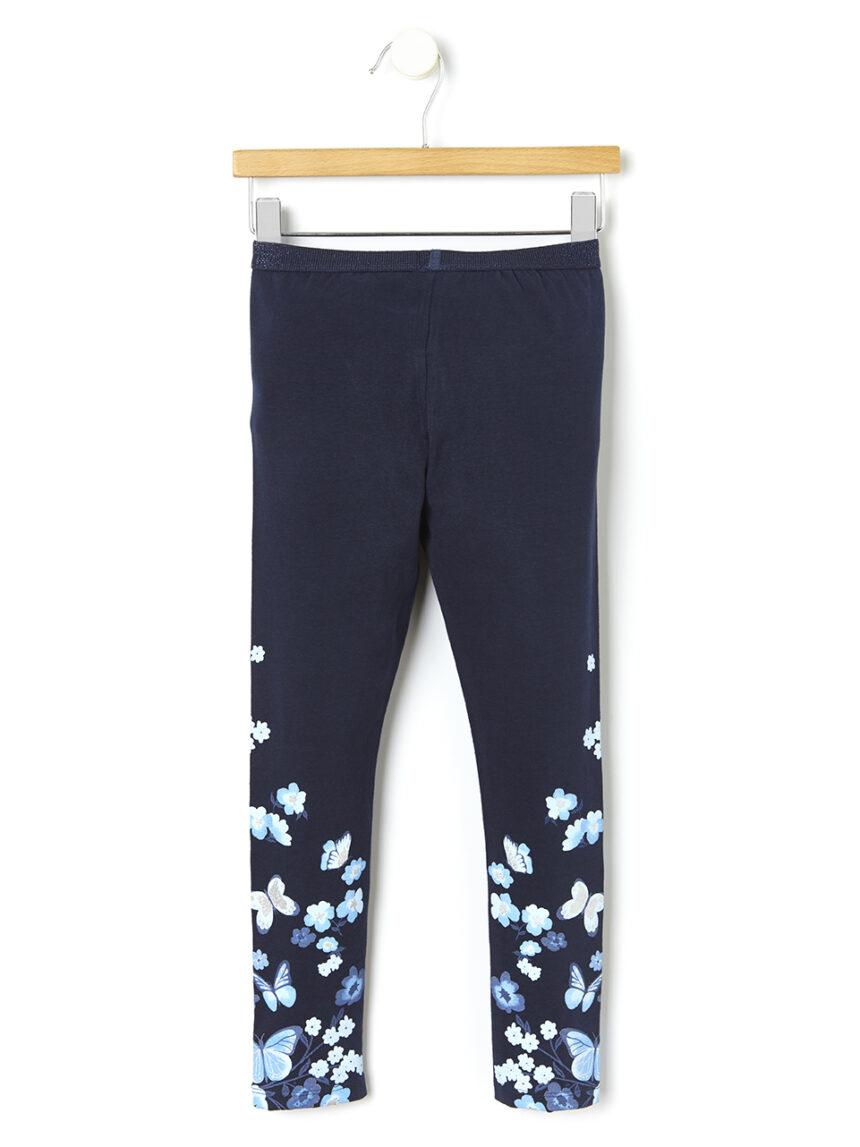 Leggings com estampa de flor e borboleta - Prénatal
