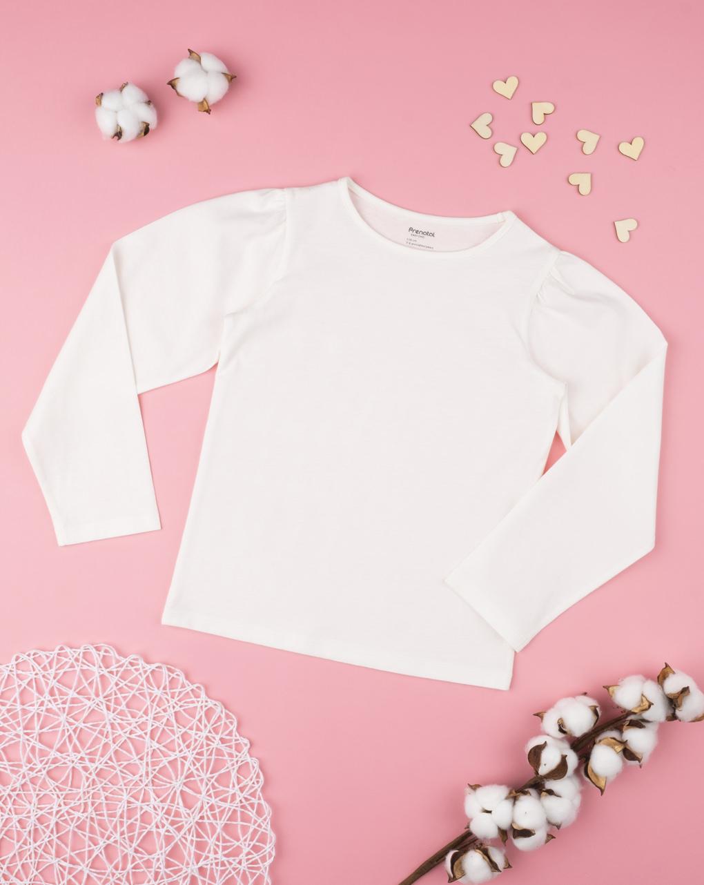 """Camiseta feminina com mangas """"balão"""" - Prénatal"""