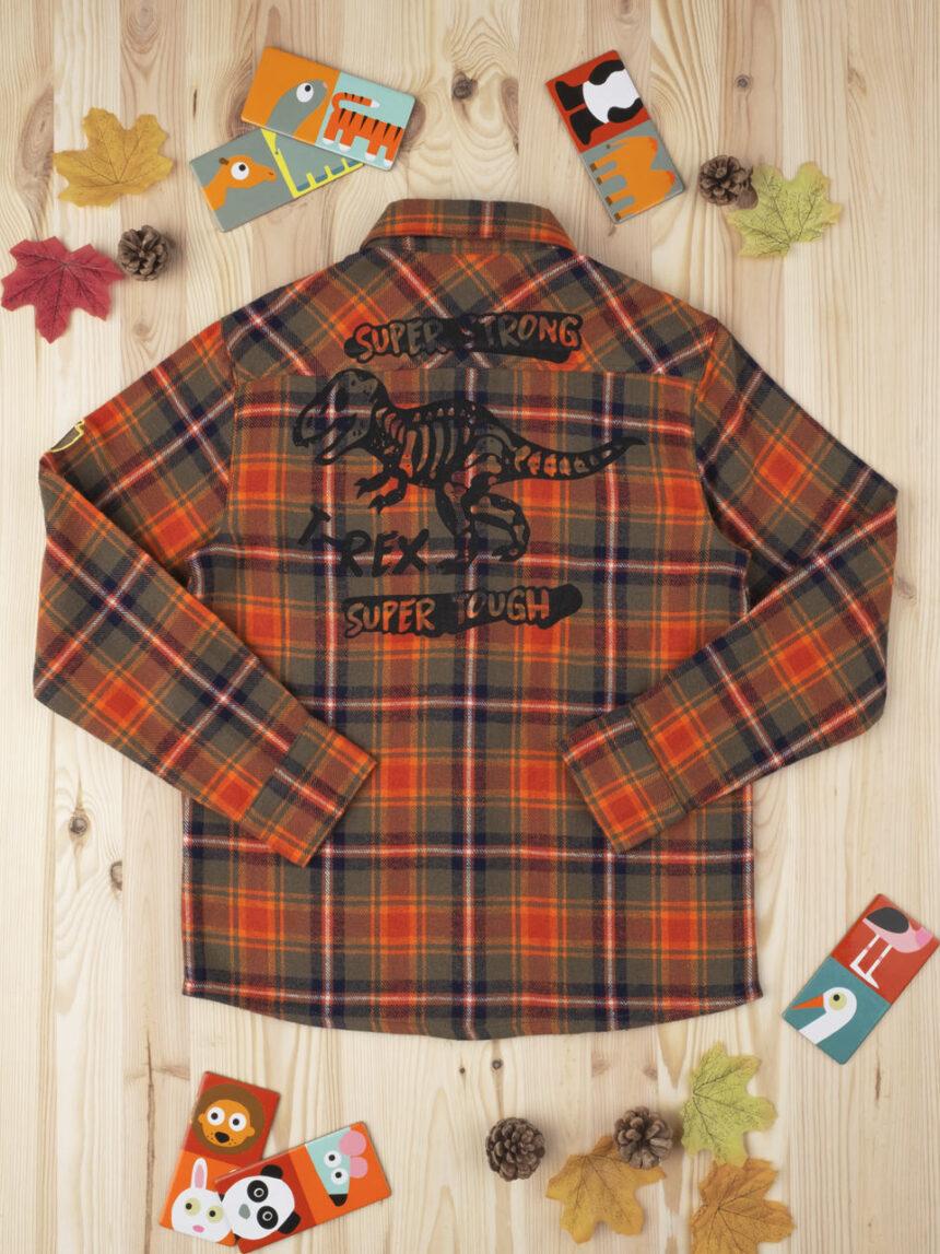Camisa de tartan laranja garoto menino - Prénatal