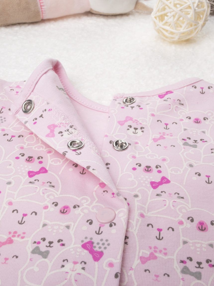 "Camiseta feminina de jersey ""gattini pink"" - Prénatal"