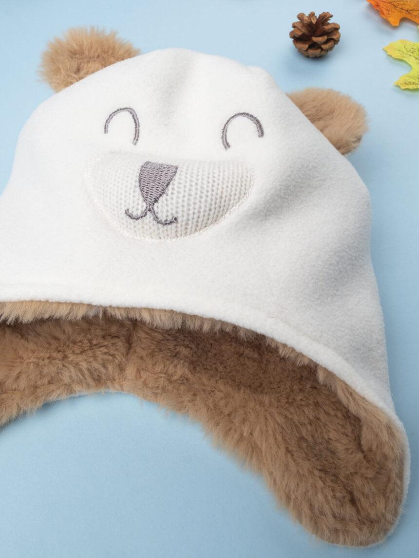 """Chapéu de menino creme """"cachorro"""" - Prénatal"""