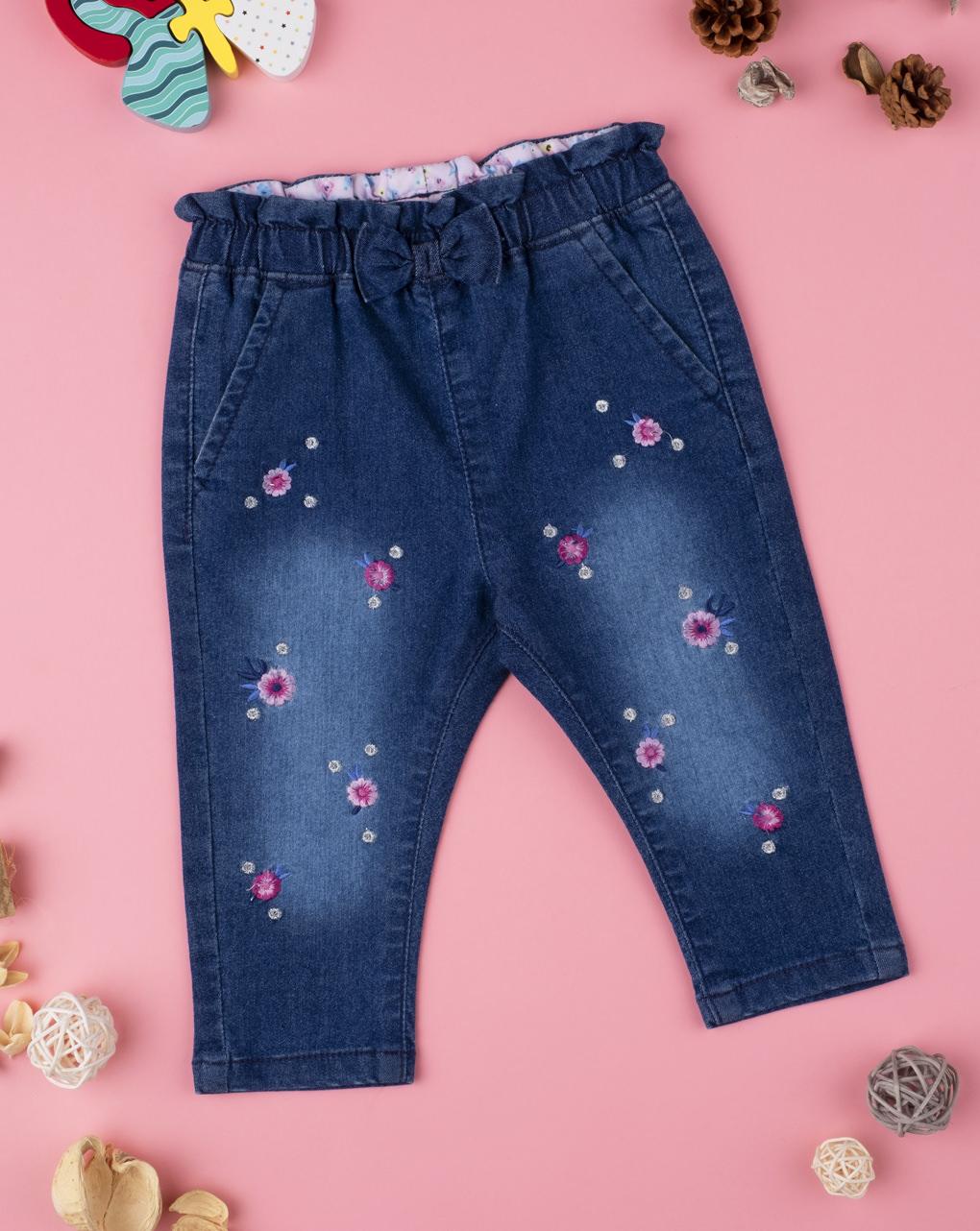 "Menina jeans ""flor"" - Prénatal"
