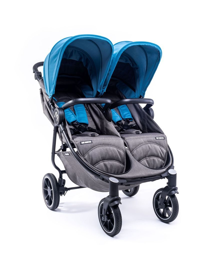Easy twin 4 twin chair preto chassis com pack cor atlântico - Baby Monsters