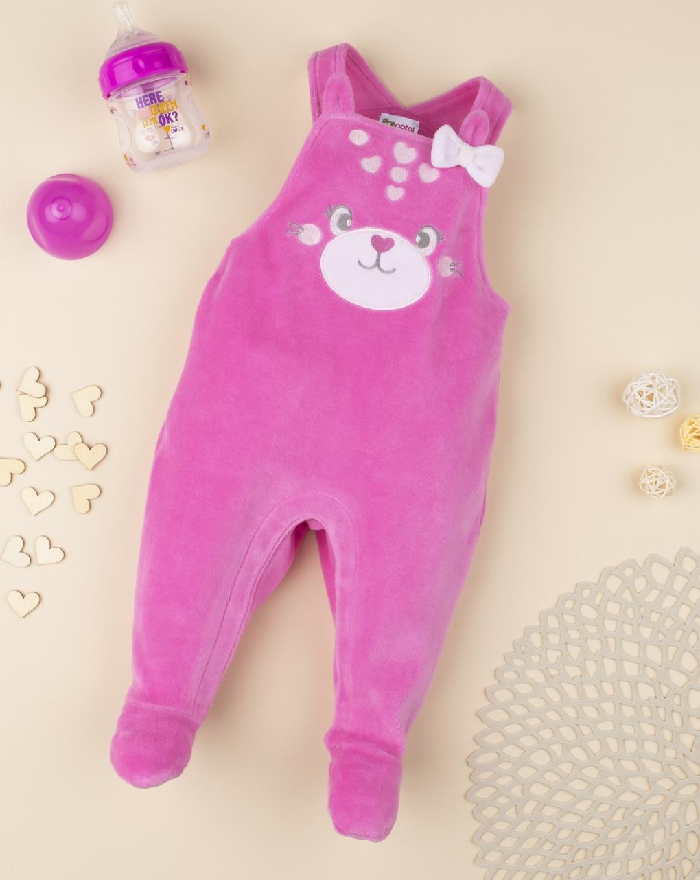 """Macacão rosa feminino """"cachorrinho"""" - Prénatal"""