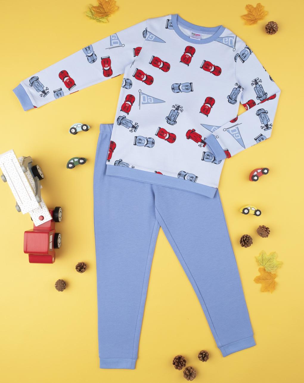 """Conjunto de pijama masculino """"fórmula um"""" - Prénatal"""