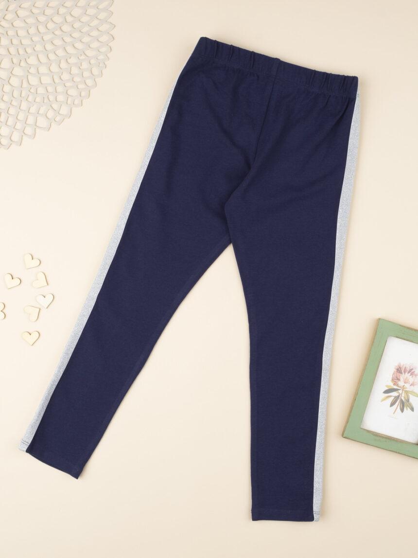 Leggings menina azul e prata - Prénatal