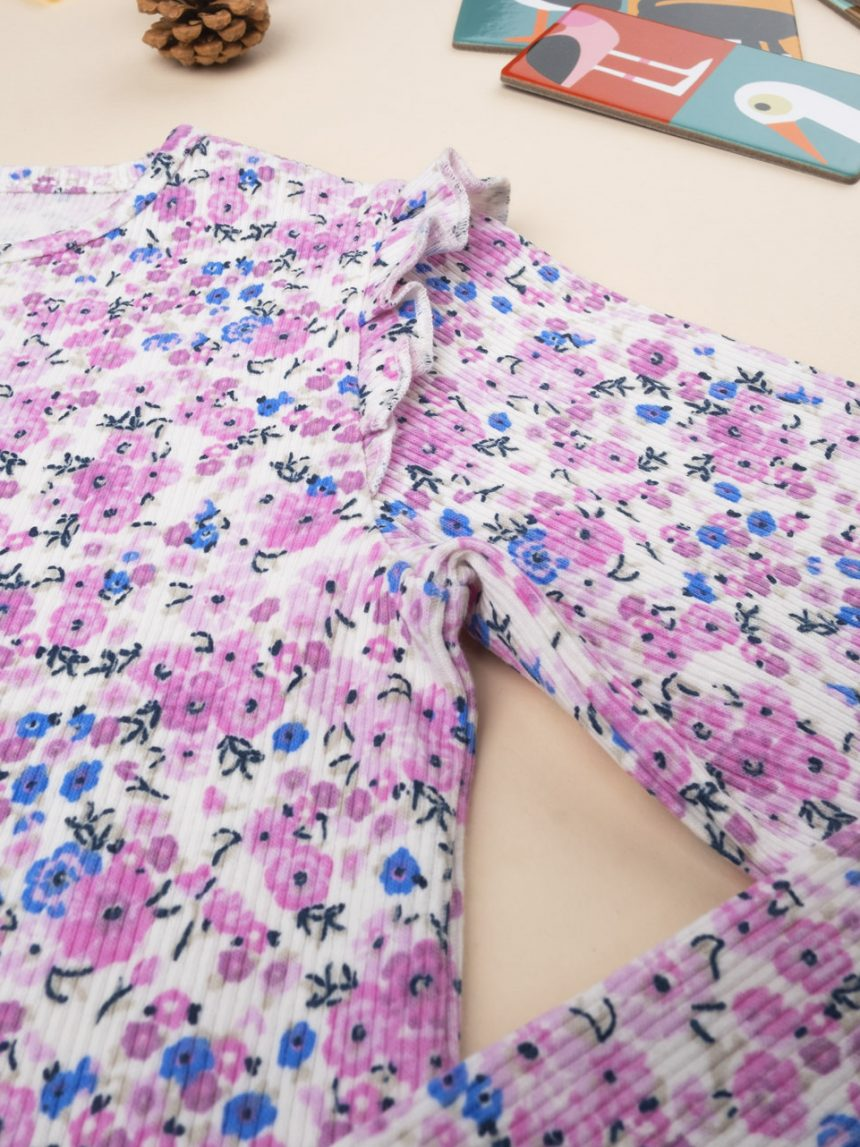 "T-shirt menina ""flor"" - Prénatal"